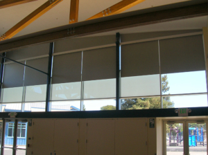 Motorized Fixed-Angled Top Darkening Shades